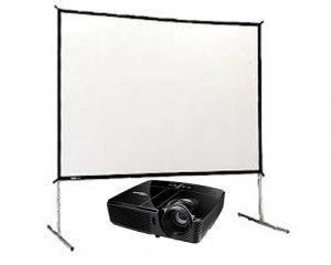 Projector & Fast fold Screen Set