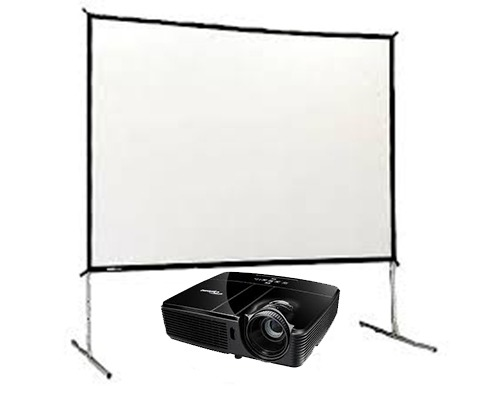 3500lm Projector & Fast Fold Screen Set Hire