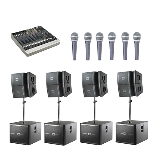 JBL Mega System Hire 10B's Connection House VRX system