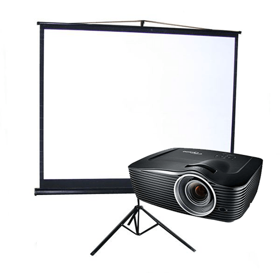 Tripod screen and projector bundle