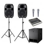 Sound Hire - Medium Sound System 15inch 2 x tops 1 x subs