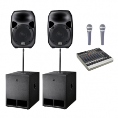 Sound Hire - Large Sound System 15inch 2 x tops 2 x subs