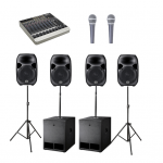 Sound Hire - Extra Large Sound System 15inch 4 x tops 2 x subs