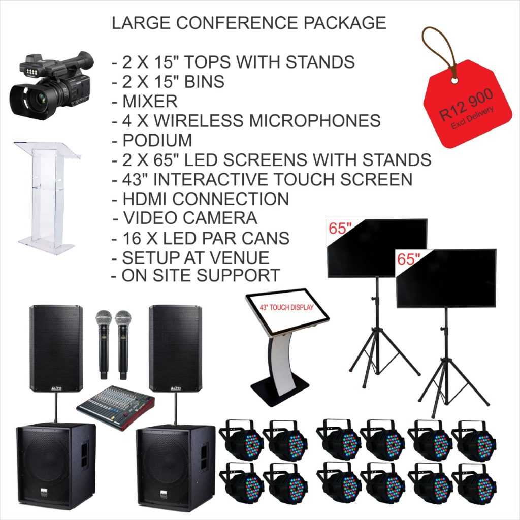 Large Conference AV Package Hire
