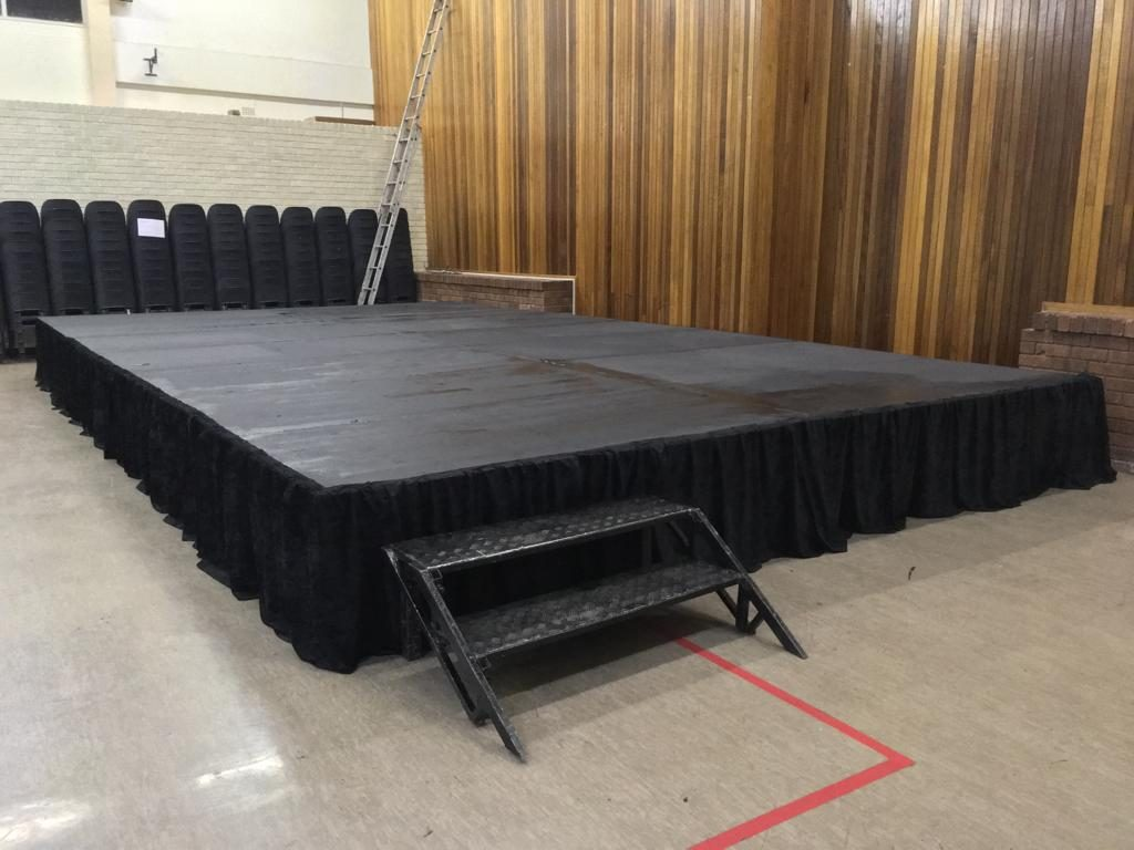 8.4m by 4.8m Stage Hire – Variable Height