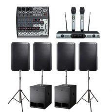 Sound Hire: Alto 15inch 2 Subs 4 Tops Wireless