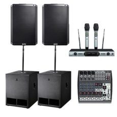 Sound Hire: Alto 15inch 2 Subs 2 Tops Wireless