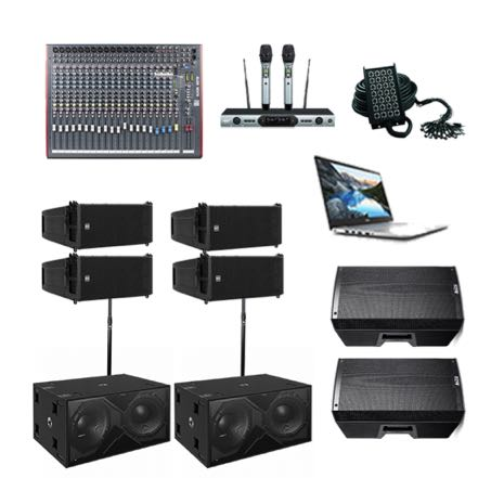 RCF Line Arrays – Basic Sound Hire