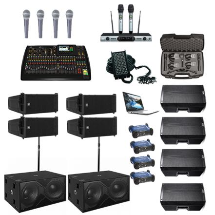 RCF Line Arrays – Basic Band Setup