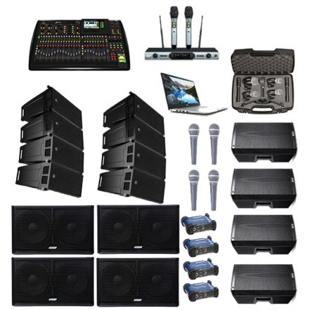 RCF Line Arrays – Large Venue Band Setup